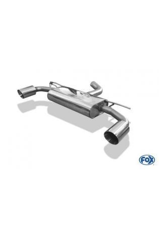 FOX Duplex Sportauspuff Endschalldämpfer VW Golf 7 Einzelradaufhängung GTI-Optik re/li je 1 x 100mm