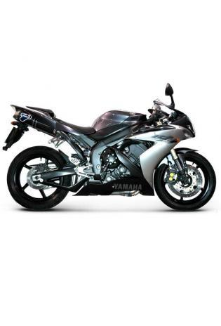 Termignoni Slip On ovale Form, Version V4A/Alu für YAMAHA YZF R1 Bj. 04-06