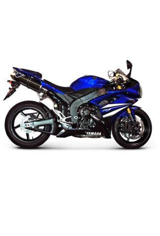 Termignoni Slip On ovale Form, Version V4A/Alu für YAMAHA YZF R1 Bj. 07-08