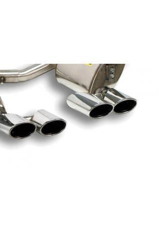Supersprint Sportauspuff Mercedes C219 CLS 500 Bj. 07-10 - Anlage mit Metall-Kat. rechts-links 2x 120x80 oval