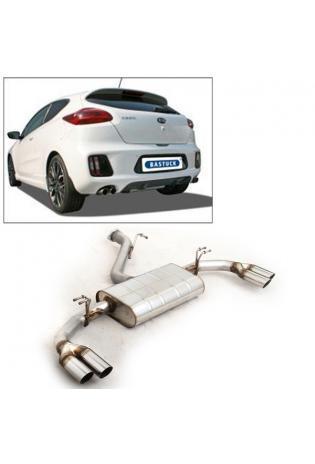 Bastuck Sportauspuff Kia Ceed GT 1.6l - re/li je 2 x 63mm schräg (RohrØ 70mm)