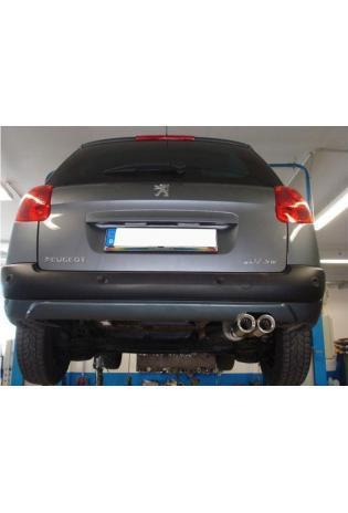 Fox Sportauspuff Endschalldämpfer Peugeot 207 SW 1.4l  1.6l  1.6l HDI ab Bj. 07 - 2 x 80mm (RohrØ 55mm)