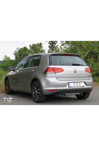Fox Komplettanlage ab Kat VW Golf 7 ab Bj. 12 starre Hinterachse 2x80mm mit Absorber