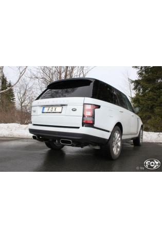 Fox Sportauspuff Range Rover 4 3.0l D ab Bj. 12 - rechts links je 1 x 220x80mm flachoval (RohrØ 63.5mm)
