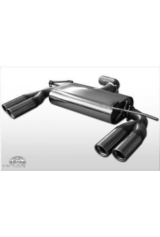 Fox Duplex Sportauspuff VW Golf 6 1.8l TSI  2.0l TDI GTD - rechts links 2 x 76mm schr?g (Rohr 70mm)
