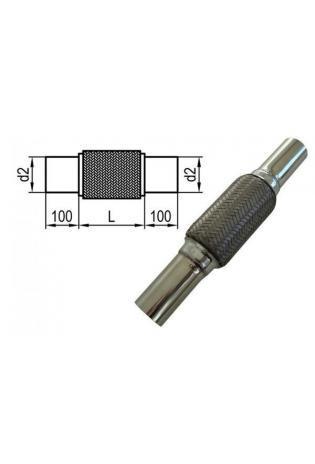 Fox Universal Flexrohr mit Edelstahl-Anschlussrohren Ø 55mm (d1) Länge 200mm