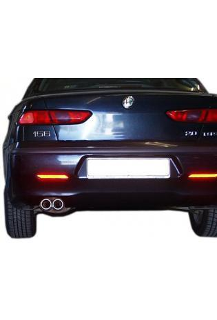 FOX Sportauspuff Alfa Romeo 156 1.6l  bis  2.5l  1.9l JTD  2.4l JTD  2 x 76mm mit Absorber