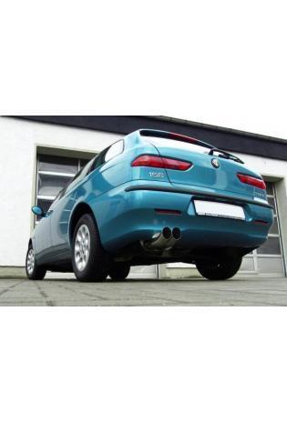 FOX Sportauspuff Alfa Romeo 156 1.6l  bis  2.5l 1.9l JTD 2.4l JTD 2 x 76mm DTM