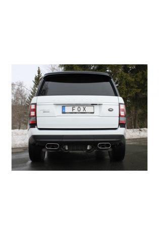 FOX Sportauspuff Duplex je 220x80mm Range Rover IV 5.0l 374/375KW