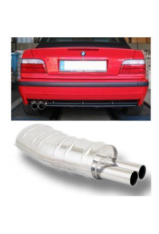 EISENMANN Sportauspuff Endschalldämpfer BMW E36 2 x 70mm gerade poliert