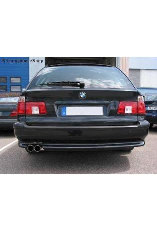EISENMANN Sportauspuff Endschalldämpfer Edelstahl BMW E39 Touring mit Serien-Heckschürze bis Bj. 98 - 2 x 76mm gerade poliert