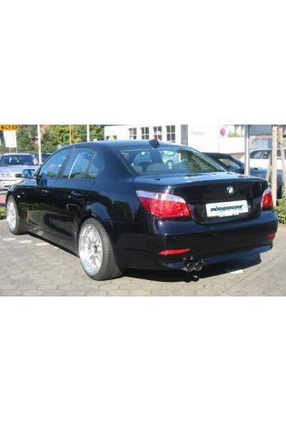 EISENMANN Sportauspuff Endschalldämpfer Edelstahl BMW 540i 545i E60 und E61 2 x 76mm gerade poliert