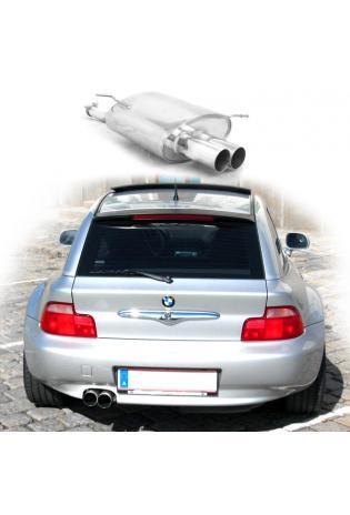 EISENMANN Sportauspuff ESD Edelstahl BMW Z3 E36-7 und E36-8 1.8l 1.9l 2x76mm gerade