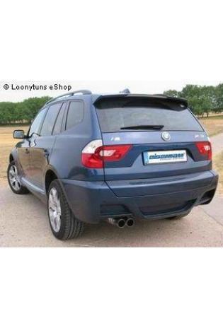 EISENMANN Sportauspuff BMW X3 E83 3.0d - 2 x 76mm gerade poliert