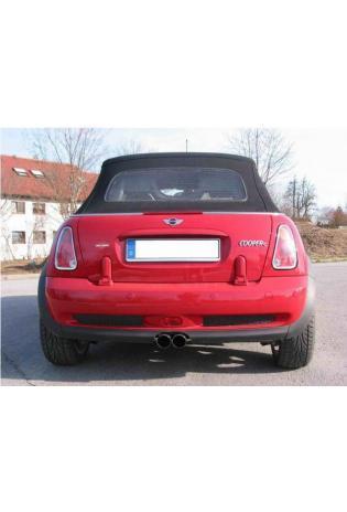 EISENMANN Sportauspuff Endschalldämpfer Edelstahl BMW Mini Cooper S ab Bj. 04 - 2 x 76mm abgeschrägt poliert