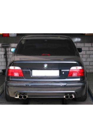 EISENMANN Sportauspuff Duplex Endschalldämpfer Edelstahl BMW E39 535i  540i Limousine mit M-Technik Heckschürze - rechts links je 2 x 76mm gerade hartverchromt