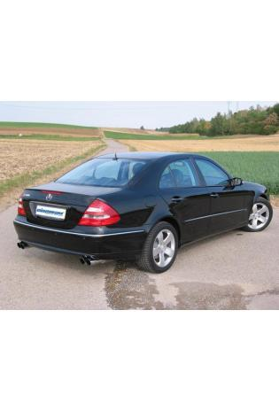 EISENMANN Sportauspuff Duplex Endschalldämpfer Edelstahl Mercedes Benz Limousine E200K  E240  E320  E500 - rechts links je 2 x 83mm abgeschrägt hartverchromt