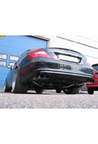 EISENMANN Sportauspuff Duplex Endschalldämpfer Edelstahl Mercedes Benz C219 CLS 500 - rechts links je 2 x 90mm abgeschrägt hartverchromt