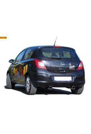 FOX Duplex Sportauspuff Opel Corsa D ab Bj. 06 1.0l  1.2l  1.4l 1.3l D rechts links je 1 x 90mm (RohrØ 50mm)