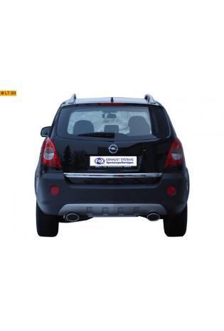FOX Sportauspuff Opel Antara ab Bj. 06  2.0l CDTI  rechts  links je 1 x 140x90mm oval