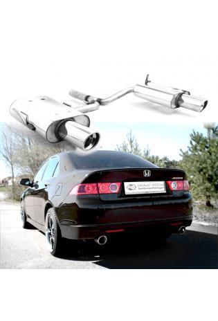 FOX Sportauspuff Honda Accord 7  CL7 CN1  Bj.  03-08 2.0l  2.2l i-CTDi  rechts links je 1 x 100mm mit Absorber