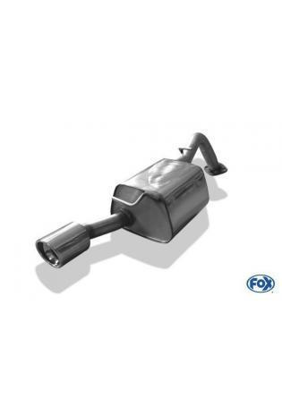 FOX Sportauspuff Endschalldämpfer Toyota Yaris TS ab Bj. 06 1.8l - 90mm eingerollt abgeschrägt mit Absorber