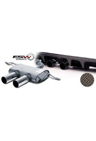 FSW Sportauspuff Endschalldämpfer VW Golf 2.0l TSI, 2 x 90mm mittig, GRUPPE A+ für Modelle mit GT Stoßstange