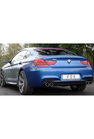 FOX Duplex Sportauspuff Endschalldämpfer Edelstahl für BMW 640i F12/F13 mit re/li 2x90mm Typ 16