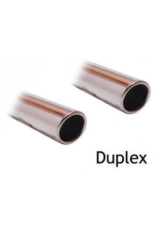 FOX Duplex Sportauspuff Endschalldämpfer Edelstahl für Lexus IS 220 Diesel mit 1x100mm Typ 16 re/li