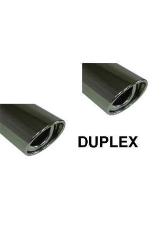 FOX Duplex Sportauspuff Endschalldämpfer Edelstahl für Mazda 6 - GG/GY NICHT Facelift mit 115x85mm Typ 33