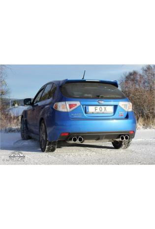 FOX Duplex Sportauspuff Endschalldämpfer Edelstahl quer für Subaru Impreza GRF mit je 2x100mm re/li Typ 12