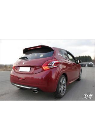 FOX Sportauspuff Endschalldämpfer Edelstahl für Peugeot 208 GTI mit 145x65mm Typ 59