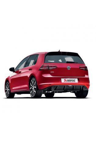 Akrapovic Duplex Sportauspuff Endschalldämpfer für VW Golf VII GTI mit Carbon Endrohren