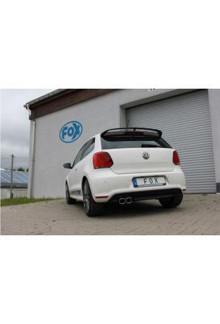 FOX Sportauspuff Komplettanlage ab Kat für VW Polo 6R WRC 63,5mm 2x88x79mm Typ 70