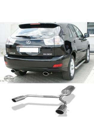 Fox Sportauspuff Lexus RX 300/ 350 XU3 Endschalldämpfer Ausgang rechts/links - 140x90 Typ 32 rechts/links