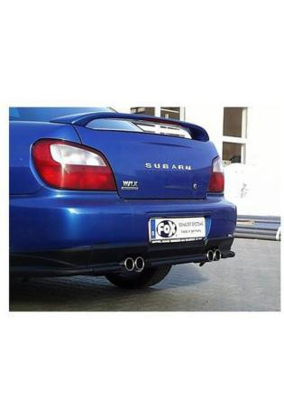 Fox Sportauspuff Duplex Endschalldämpfer für Subaru Impreza GD-GG 2.0l Turbo Ausgang rechts und links 2x76 Typ 13