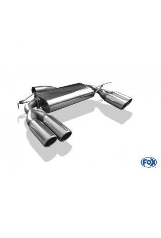 FOX Duplex Sportauspuff VW Beetle 5C Coupe und Cabrio 1.4l Einzelradaufh. je 2x80mm