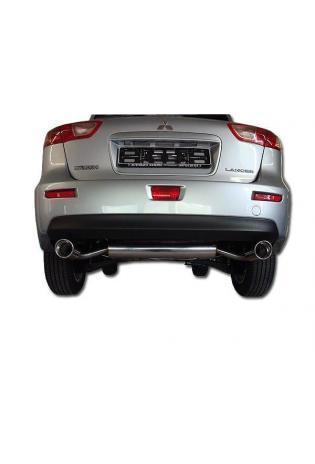 FOX Duplex Sportauspuff Mitsubishi Lancer CYO Stufenheck Sportback rechts links je 1x100mm