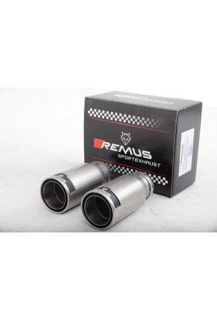 Remus Edelstahl Endrohrset 2x84mm Street Race