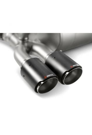 Akrapovic Duplex Carbon Endrohrsatz für BMW M3 F80 M4 F82 F83 ab Bj.14