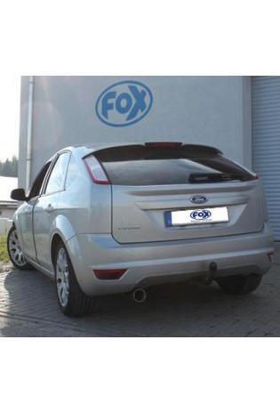 Fox Sportauspuff Endschalldämpfer für Ford Focus II Fließheck Facelift 1x90 Typ 24 einseitig