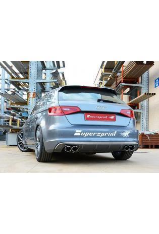 Supersprint Sportauspuff Duplex Komplettanlage für Audi A3 S3 Typ 8VA Sportback Quattro 2.0i TFSI