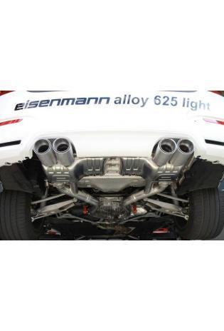 Eisenmann Sportauspuff duplex Racinganlage für BMW M3 F80 ab Bj.14 Endrohre je 2x90mm Alu gebürstet gerade