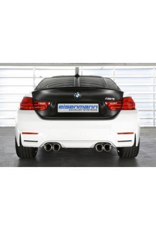 Eisenmann Sportauspuff duplex Racinganlage für BMW M4 F82 F83 ab Bj.14 Endrohre je 2x90mm Alu gebürstet gerade
