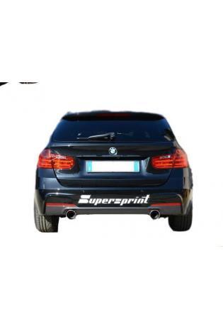 Supersprint Sportauspuff duplex Racinganlage für BMW 4er F32 Coupe und F33 Cabriolet Endrohre je 1x100