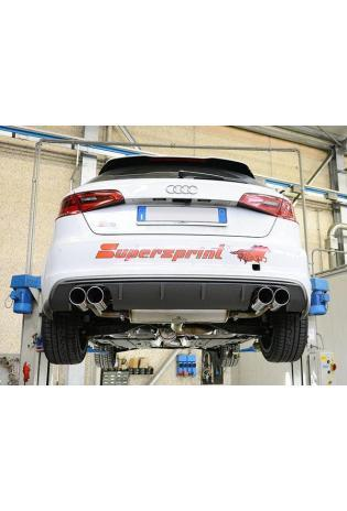 Supersprint Sportauspuff duplex Racinganlage ab Turbo ohne Kat. für VW Golf VII R 2.0 TFSI ab Bj.14 Endrohre je 2x90mm