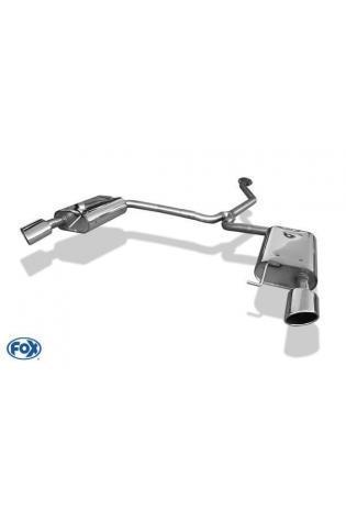 Fox Sportauspuff duplex Endschalldämpfer für Mazda 6 Typ GH Endrohre je 106x71mm schräg