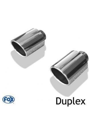 Fox Sportauspuff duplex Endrohrsatz zum Anschweißen für Mazda CX5-KE
