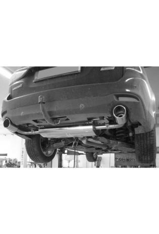 Fox Sportauspuff duplex Endschalldämpfer für Mazda 6 GJ 2.0l und 2.5l Endrohre je 1x100mm rund eingerollt