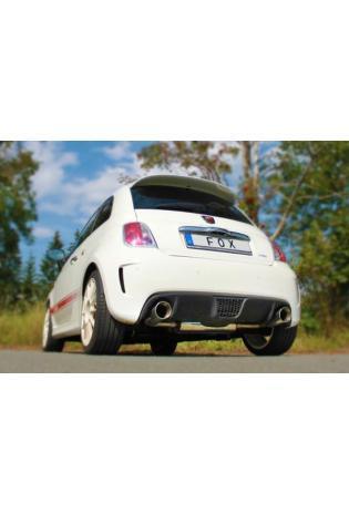 FOX Sportauspuff Endschalldämpfer Fiat 500 Abarth quer Ausgang rechts/links 1x100 Typ 25